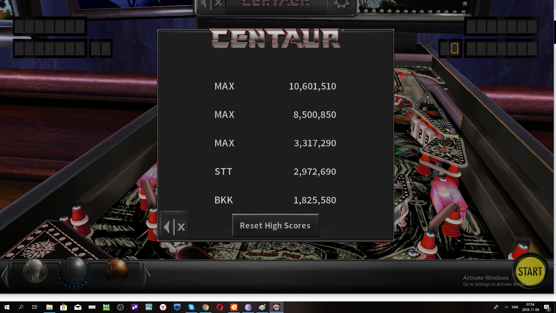 maxgreat: Pinball Arcade: Centaur (PC) 10,601,510 points on 2018-11-04 01:54:53