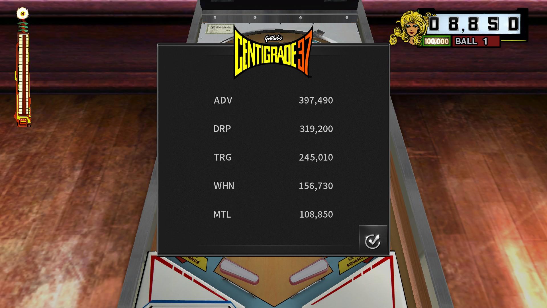Mantalow: Pinball Arcade: Centigrade 37 (PC) 108,850 points on 2016-12-03 03:56:08