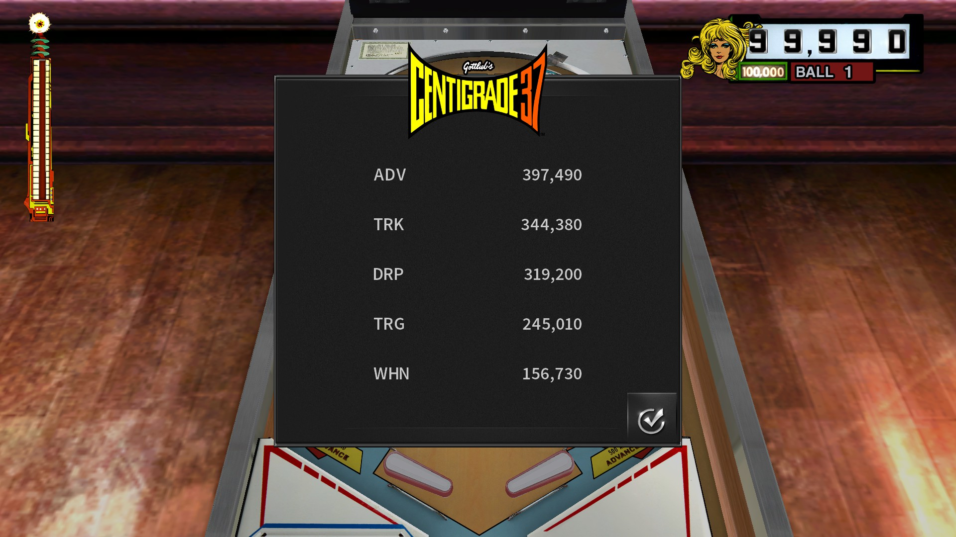 TheTrickster: Pinball Arcade: Centigrade 37 (PC) 344,380 points on 2016-12-05 05:01:00