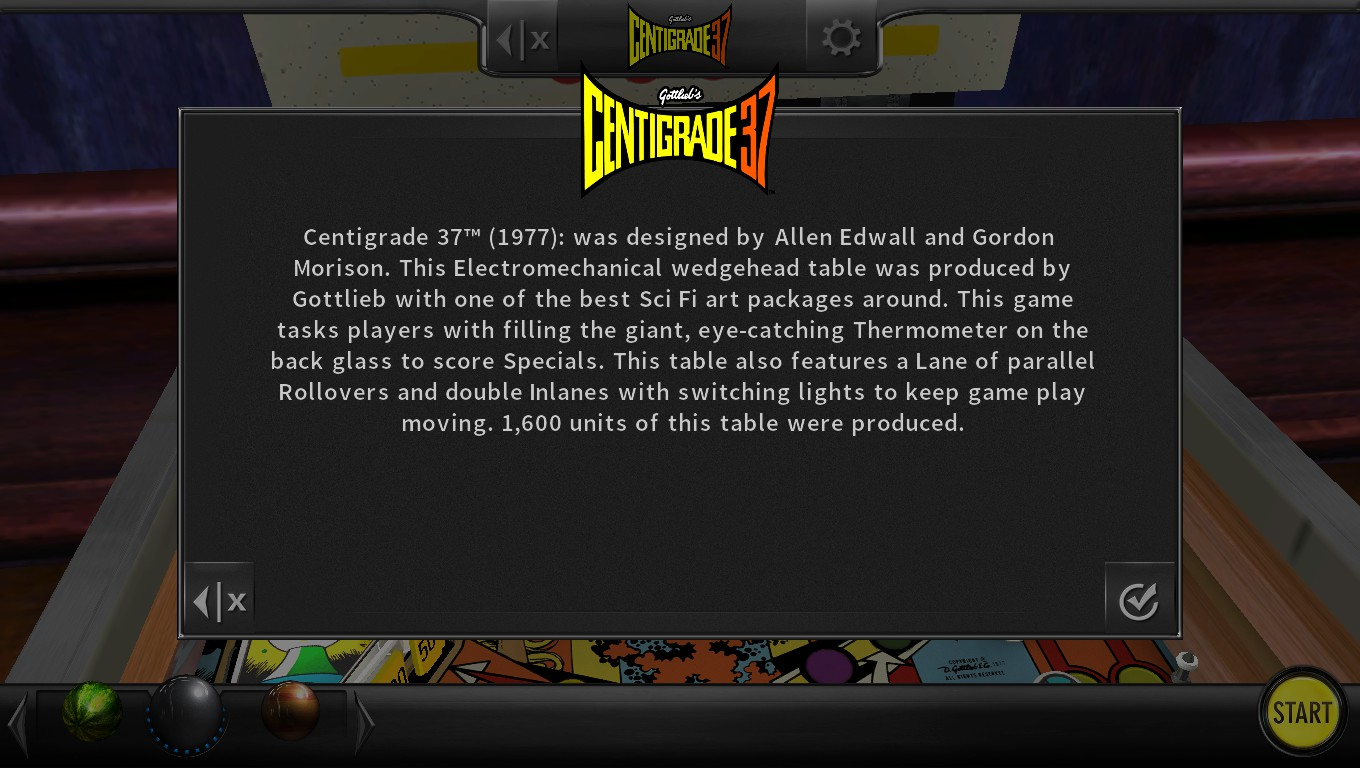 Mark: Pinball Arcade: Centigrade 37 (PC) 217,190 points on 2018-05-05 19:44:15