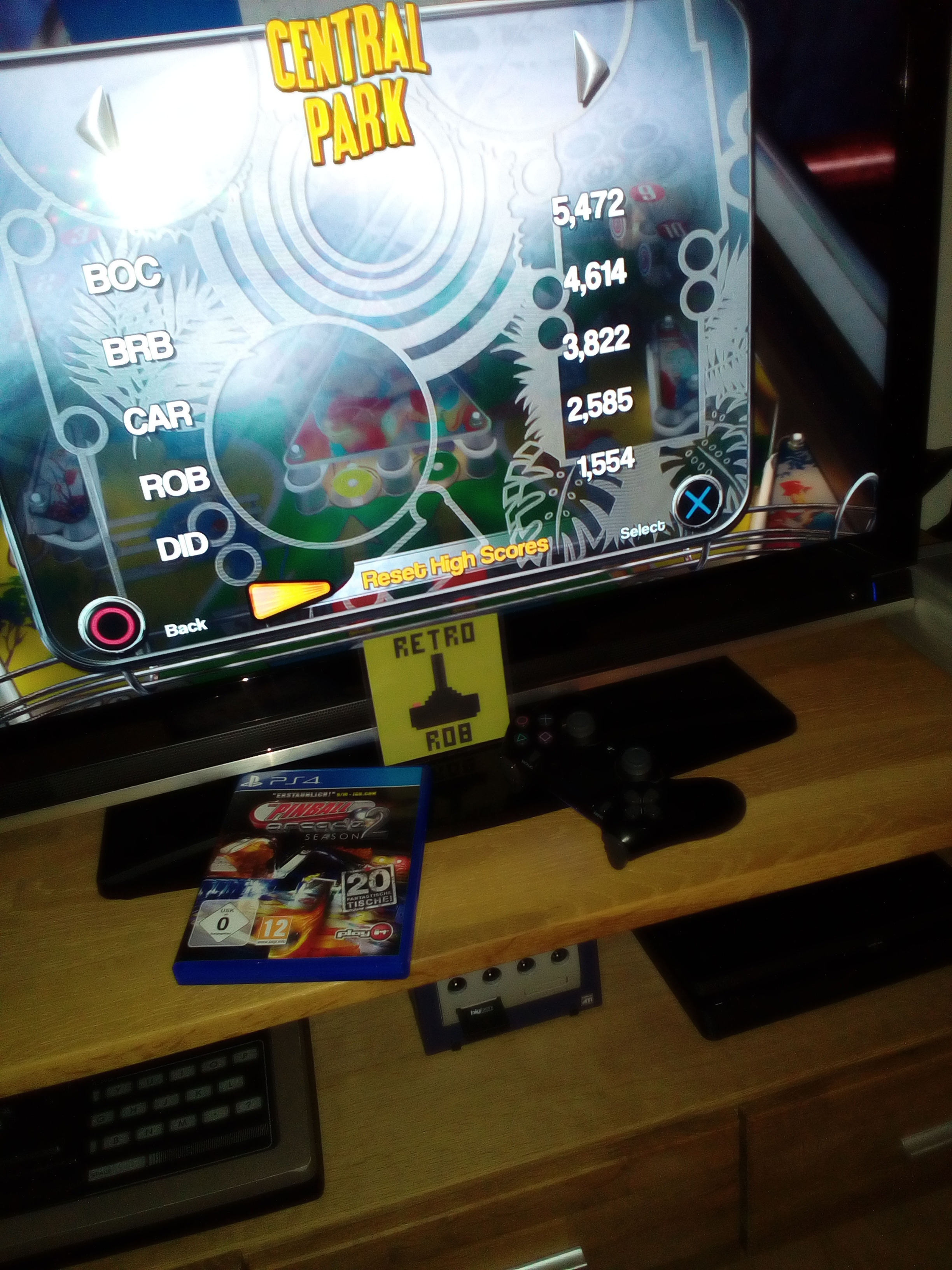 RetroRob: Pinball Arcade: Central Park (Playstation 4) 2,585 points on 2020-05-10 14:13:39