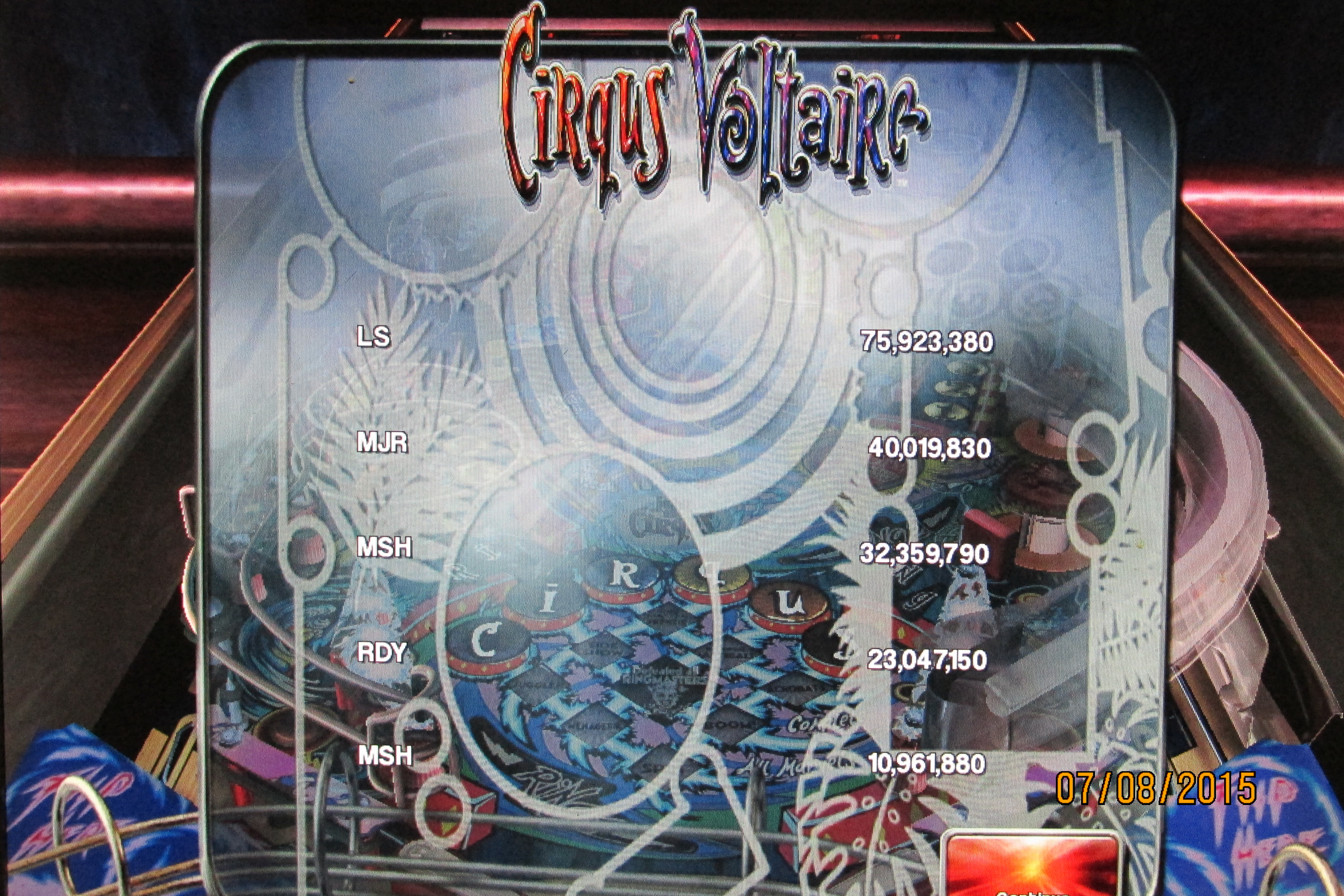 Mark: Pinball Arcade: Circus Voltaire (PC) 32,359,790 points on 2015-07-10 00:52:01