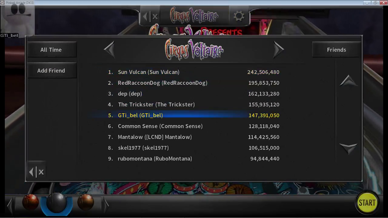 GTibel: Pinball Arcade: Circus Voltaire (PC) 147,391,050 points on 2017-03-16 09:12:33