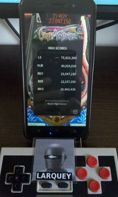 Larquey: Pinball Arcade: Cirqus Voltaire (Android) 12,157,350 points on 2017-06-10 03:33:49