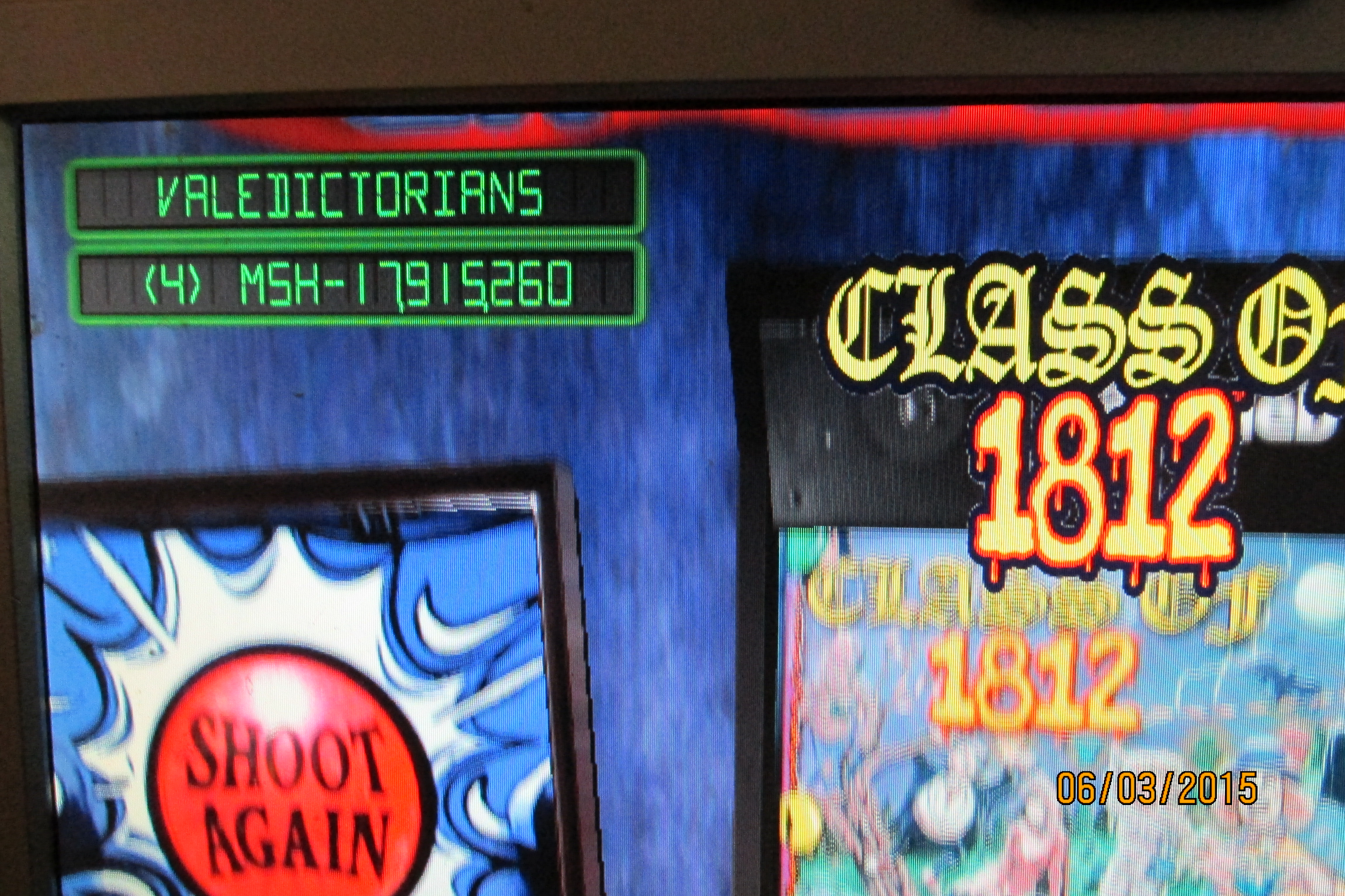 Mark: Pinball Arcade: Class of 1812 (PC) 17,915,260 points on 2015-06-27 01:23:33