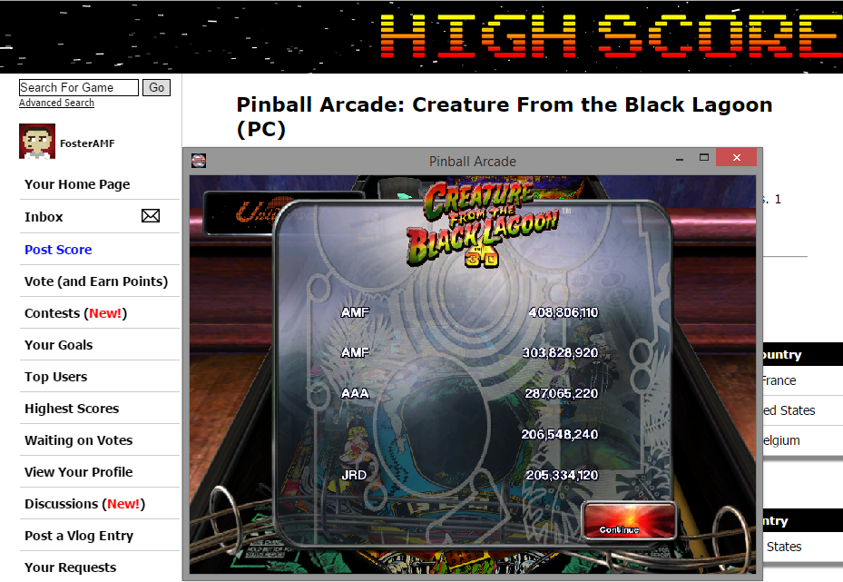 FosterAMF: Pinball Arcade: Creature From the Black Lagoon (PC) 408,806,110 points on 2015-07-05 15:59:10