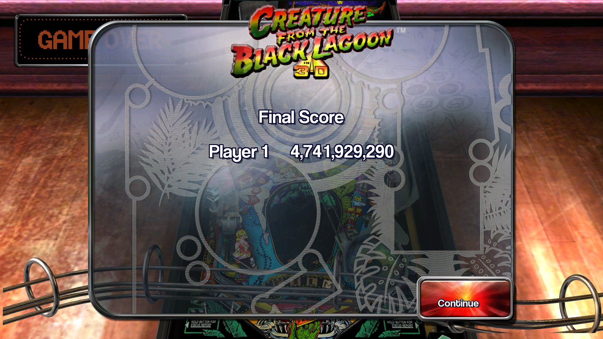 TheTrickster: Pinball Arcade: Creature From the Black Lagoon (PC) 4,741,929,290 points on 2016-03-12 03:34:49
