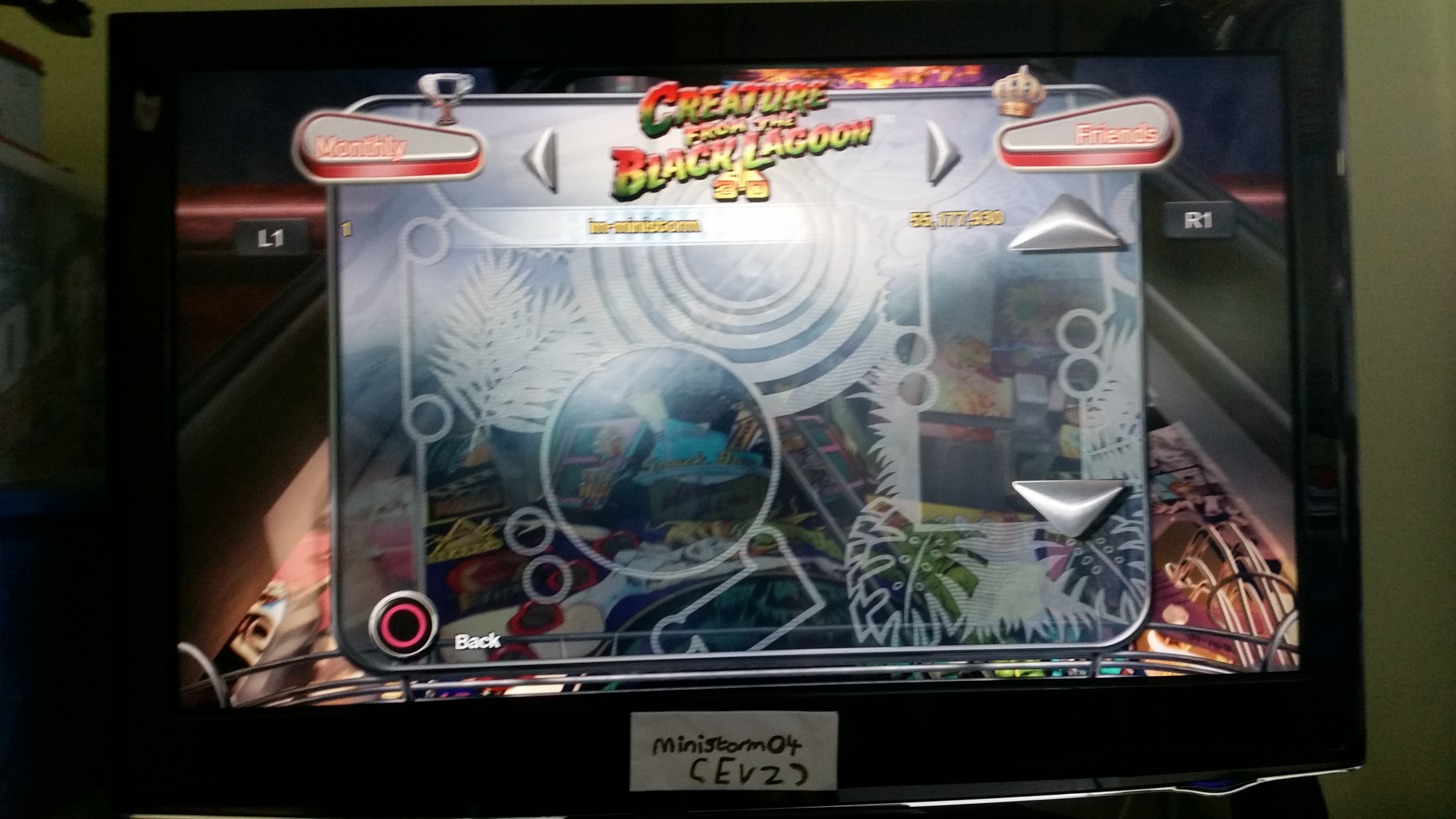 Pinball Arcade: Creature From the Black Lagoon 55,177,930 points