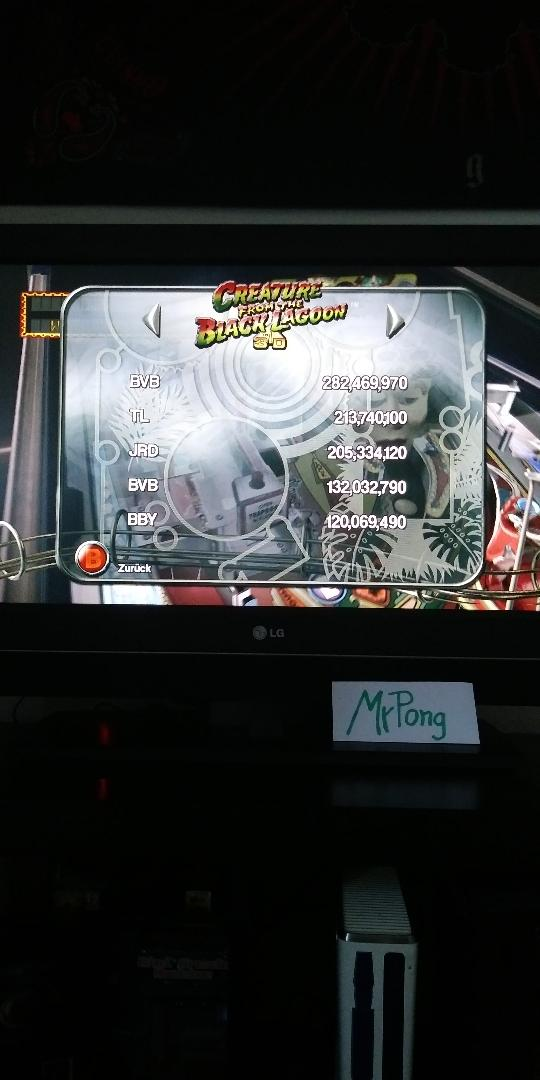 MrPong: Pinball Arcade: Creature From the Black Lagoon (Xbox 360) 282,469,970 points on 2019-06-09 13:22:14