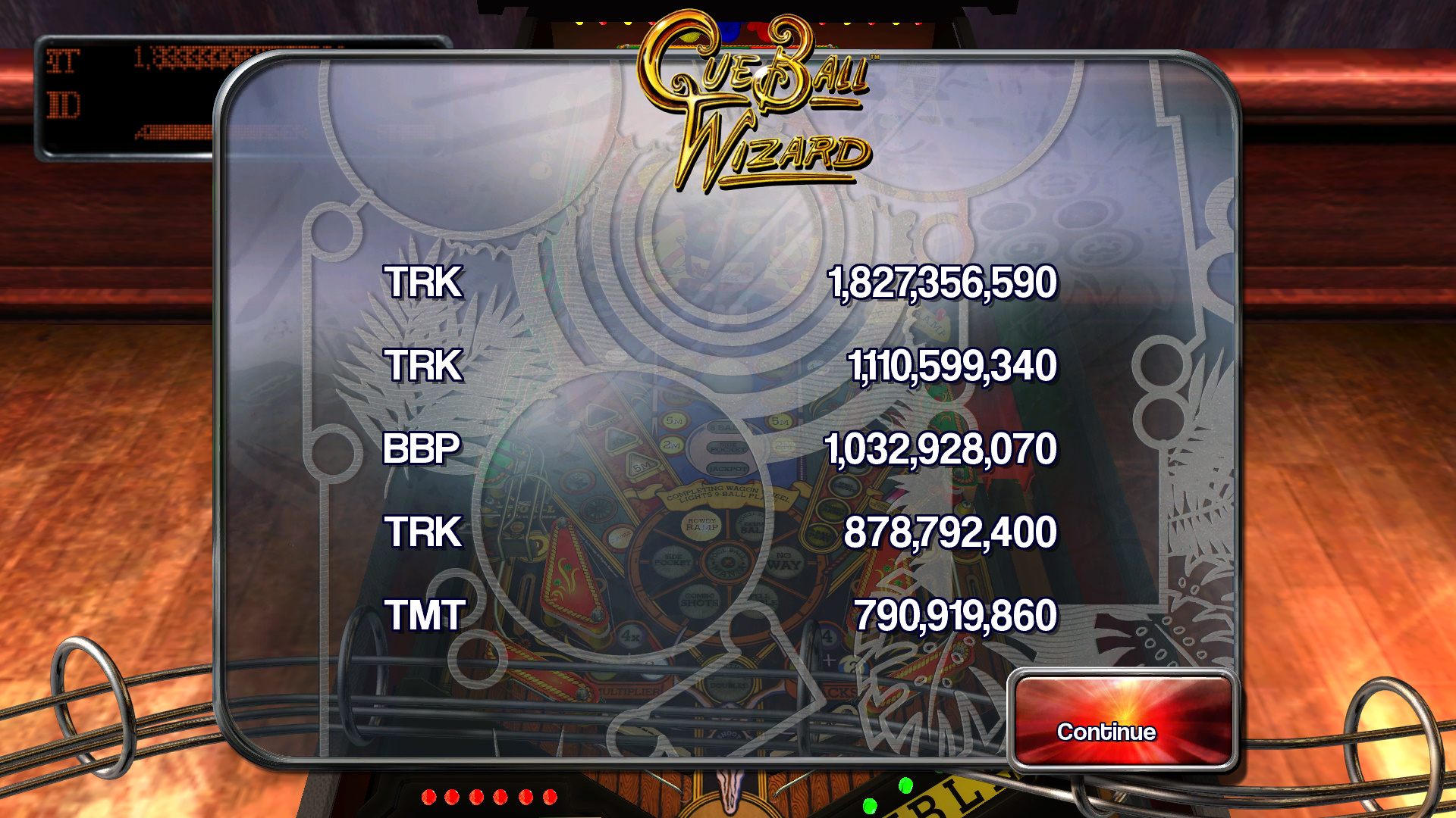 TheTrickster: Pinball Arcade: Cue Ball Wizard (PC) 1,827,356,590 points on 2015-11-13 18:22:17