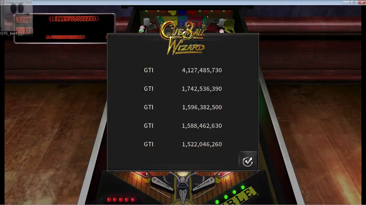 GTibel: Pinball Arcade: Cue Ball Wizard (PC) 4,127,485,730 points on 2017-04-15 10:18:41