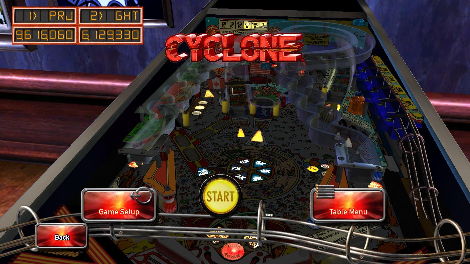 Deteacher: Pinball Arcade: Cyclone (PC) 9,616,060 points on 2015-08-14 20:54:59