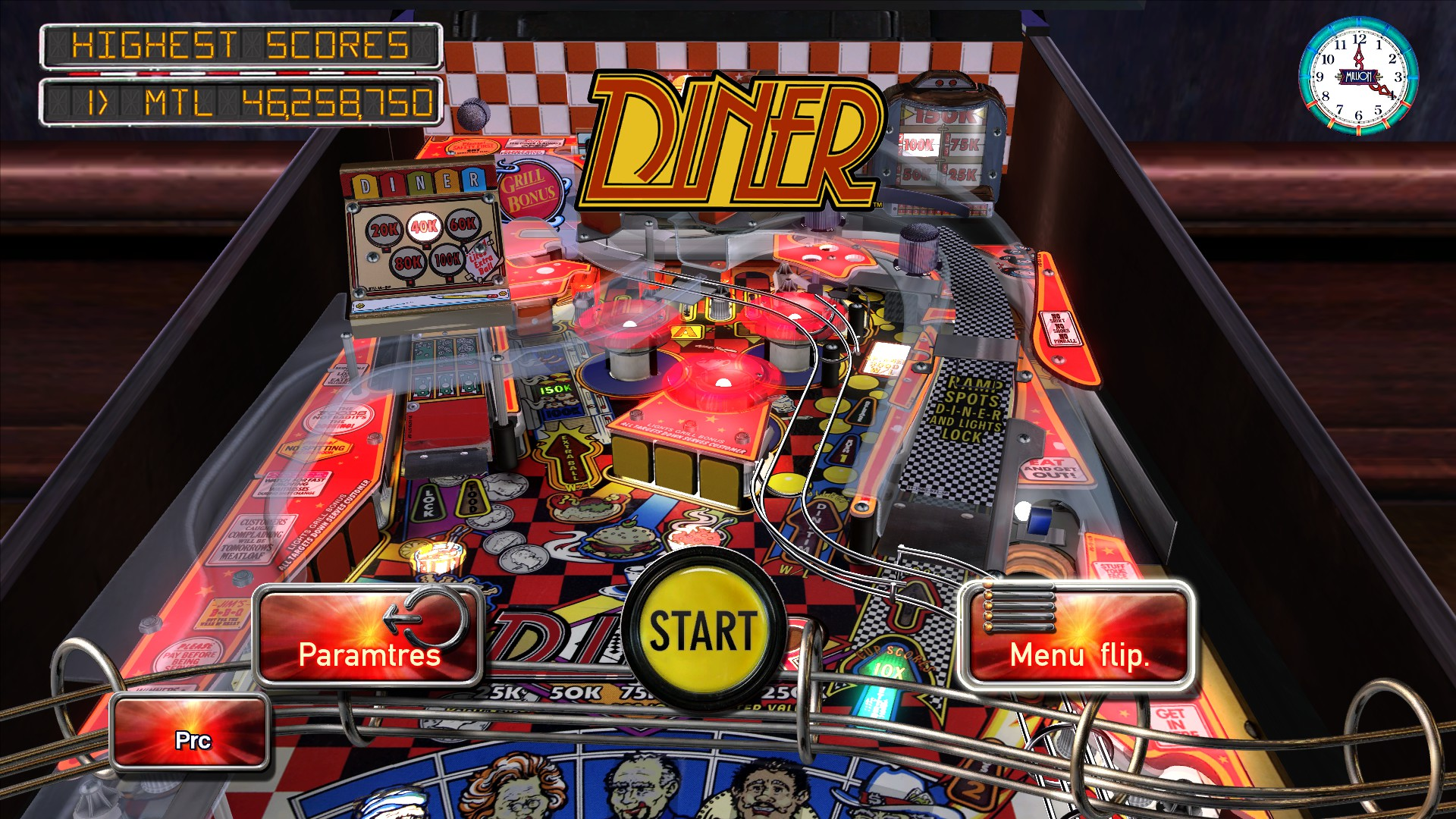 Mantalow: Pinball Arcade: Diner (PC) 46,258,750 points on 2015-12-16 10:06:02