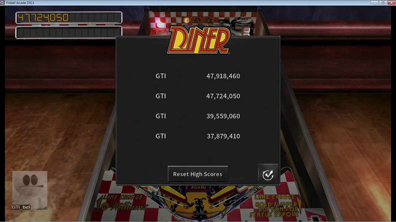 GTibel: Pinball Arcade: Diner (PC) 47,724,050 points on 2017-07-16 08:31:59
