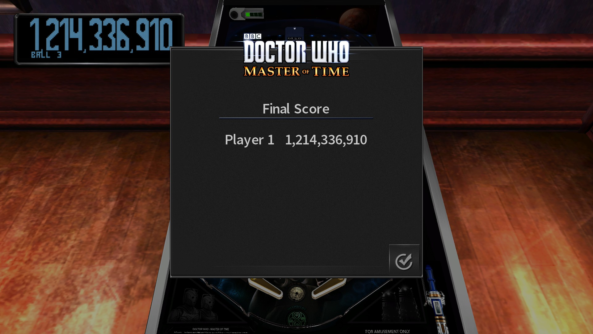 TheTrickster: Pinball Arcade: Doctor Who: Master of Time (PC) 1,214,336,910 points on 2017-03-28 14:44:57