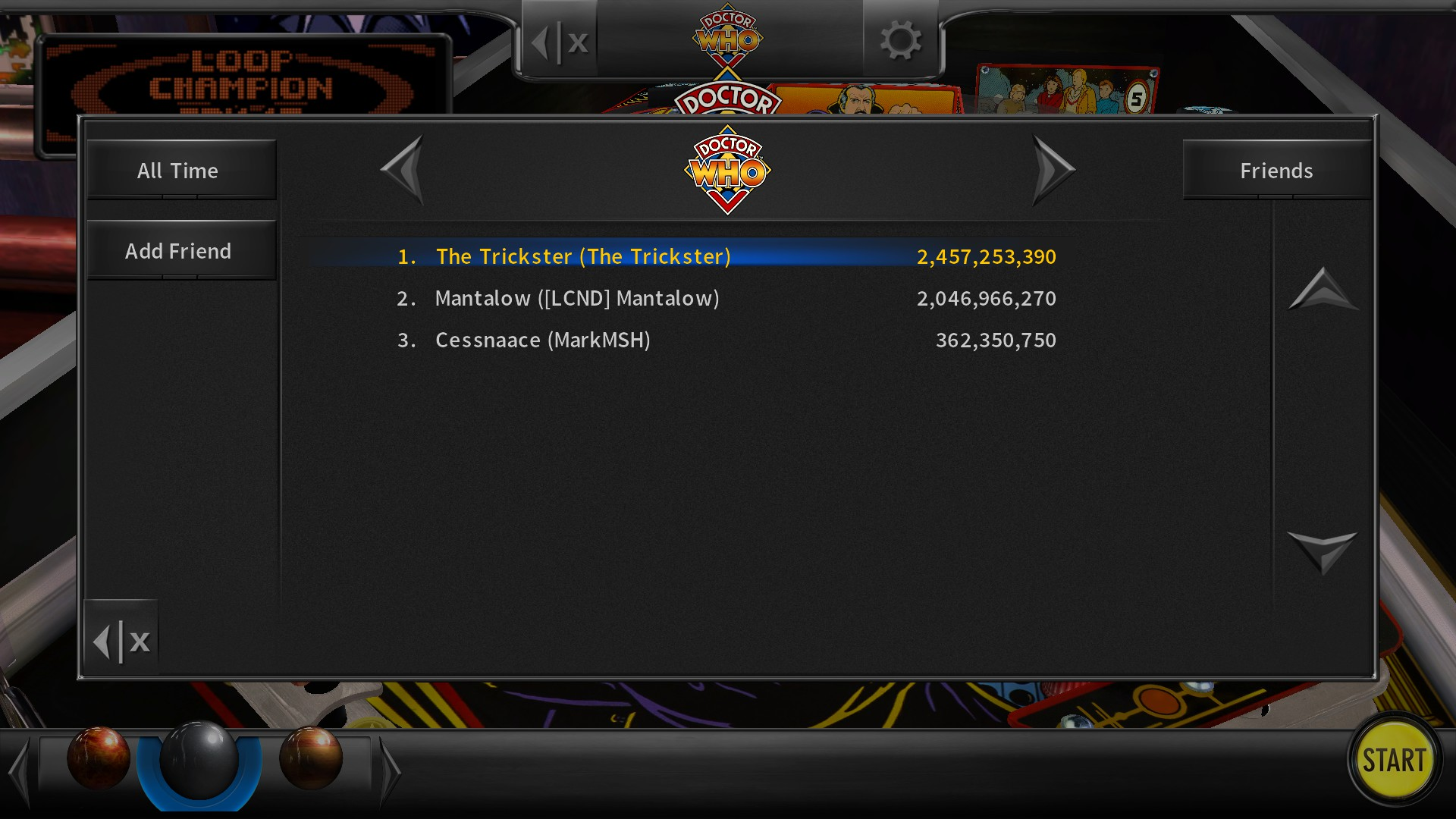 Pinball Arcade: Doctor Who 2,457,253,390 points