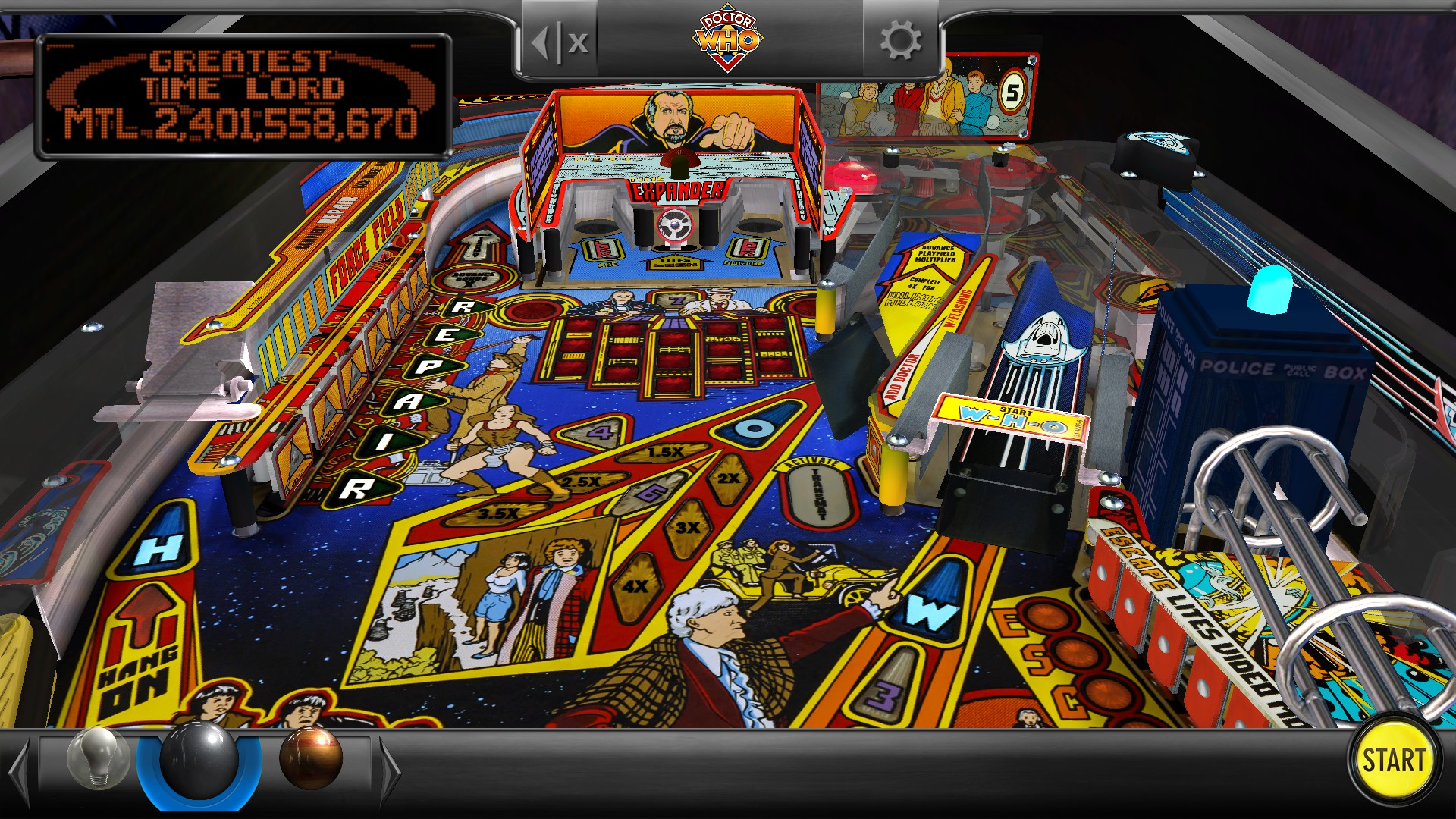 Mantalow: Pinball Arcade: Doctor Who (PC) 2,401,558,670 points on 2016-12-09 01:21:06
