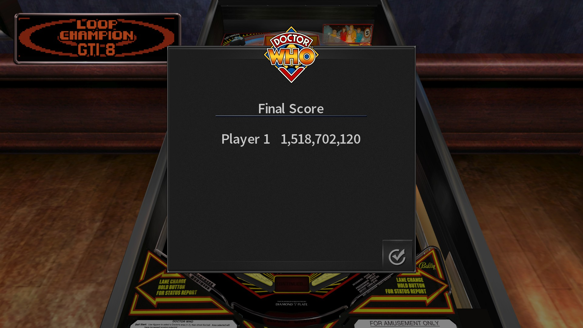 GTibel: Pinball Arcade: Doctor Who (PC) 1,518,702,120 points on 2017-09-06 10:01:02