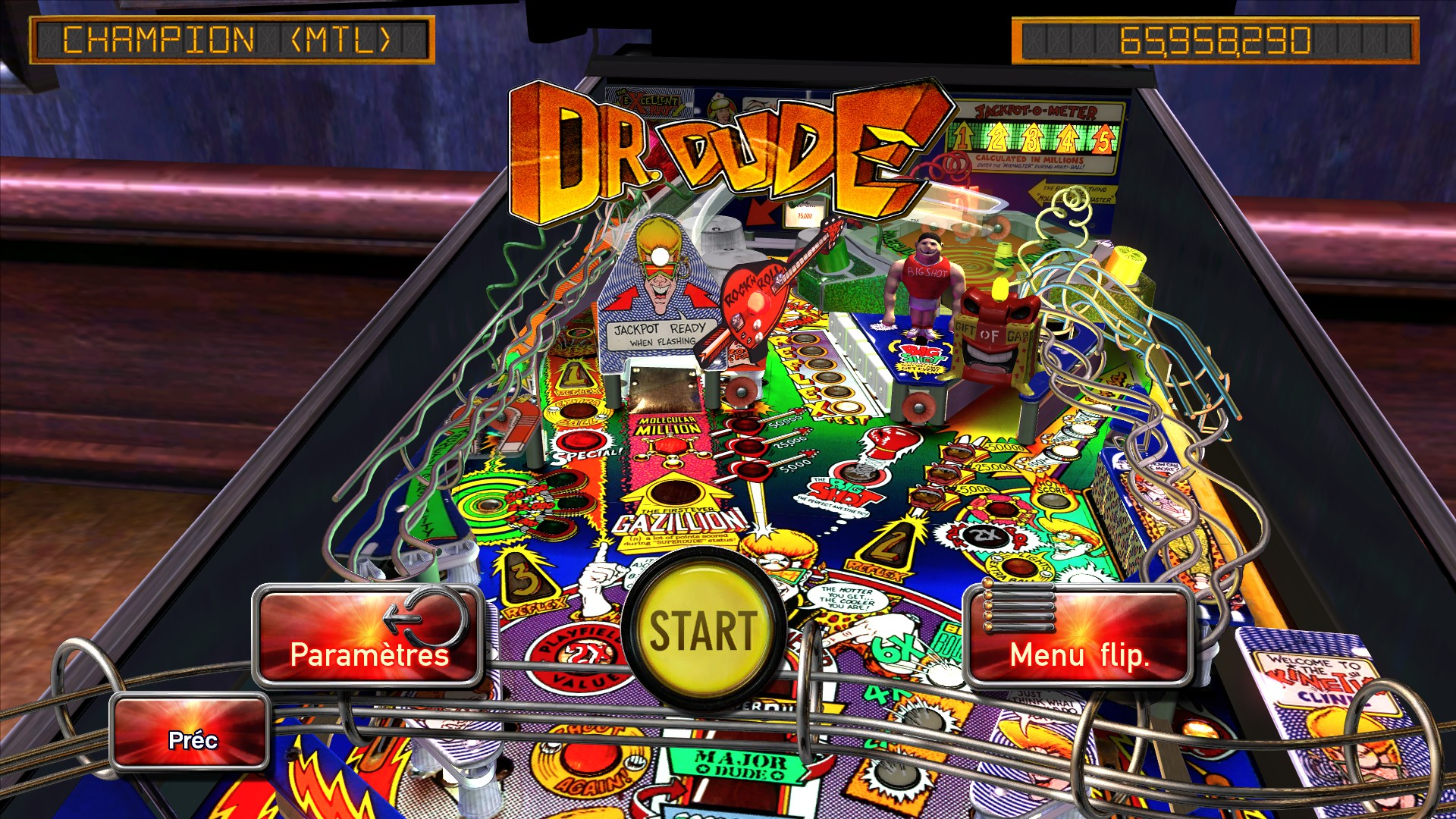 Mantalow: Pinball Arcade: Dr. Dude (PC) 65,958,290 points on 2015-10-08 04:19:22