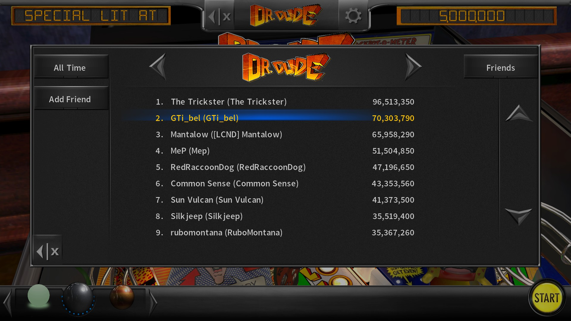 GTibel: Pinball Arcade: Dr. Dude (PC) 70,303,790 points on 2017-09-21 13:50:06