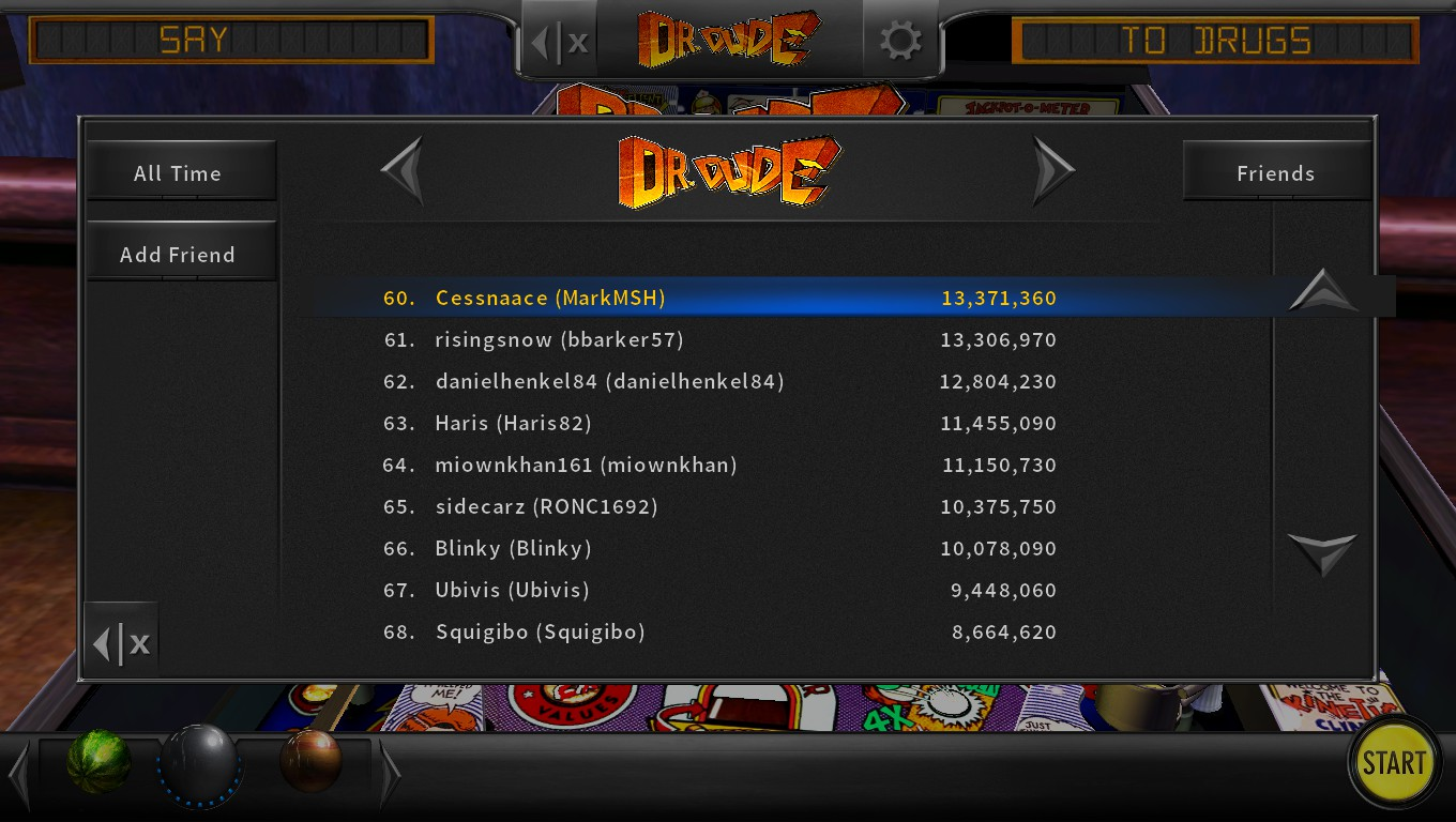 Mark: Pinball Arcade: Dr. Dude (PC) 13,371,360 points on 2018-05-06 00:29:53
