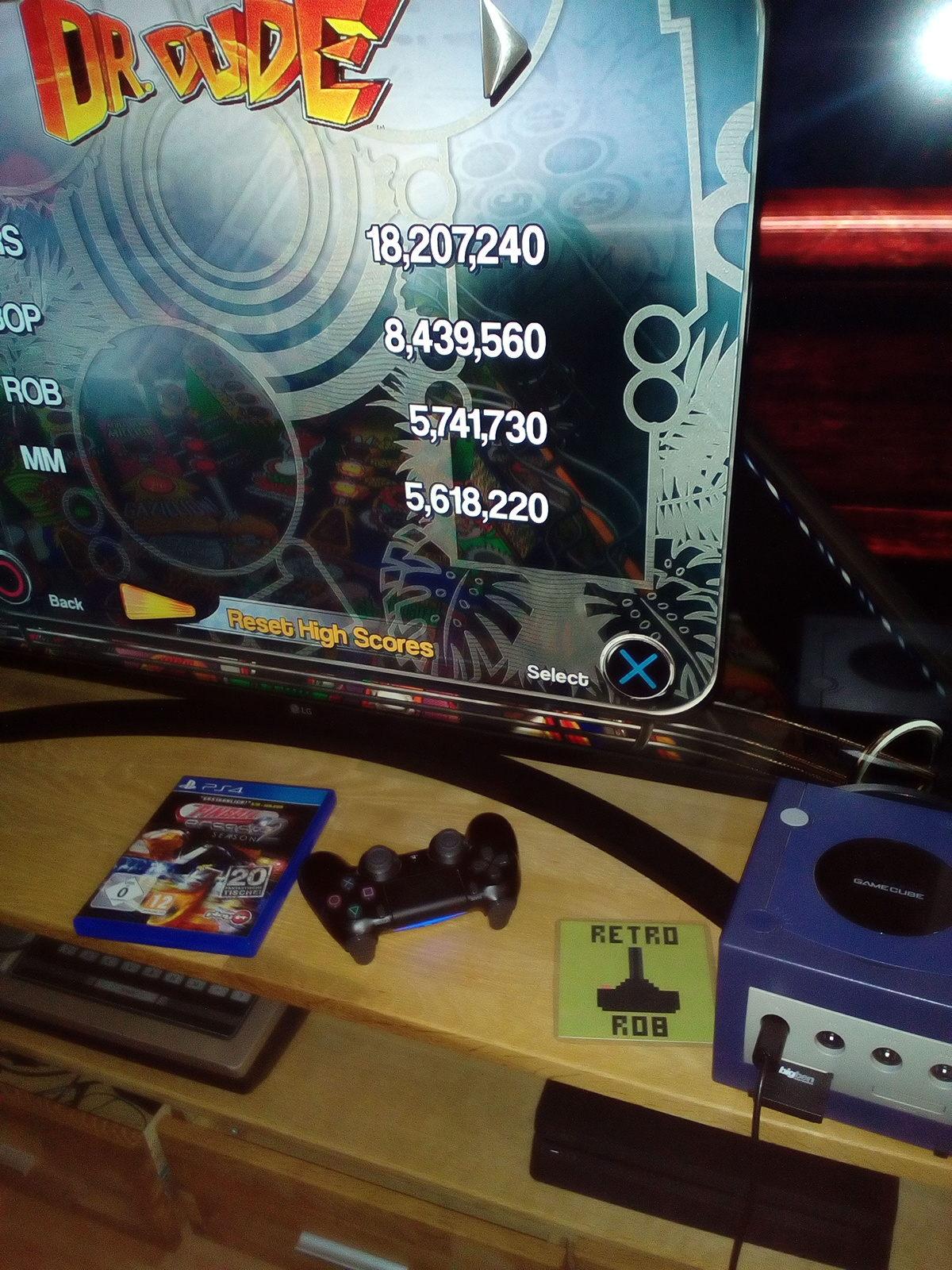 RetroRob: Pinball Arcade: Dr. Dude (Playstation 4) 5,741,730 points on 2021-03-16 15:20:39