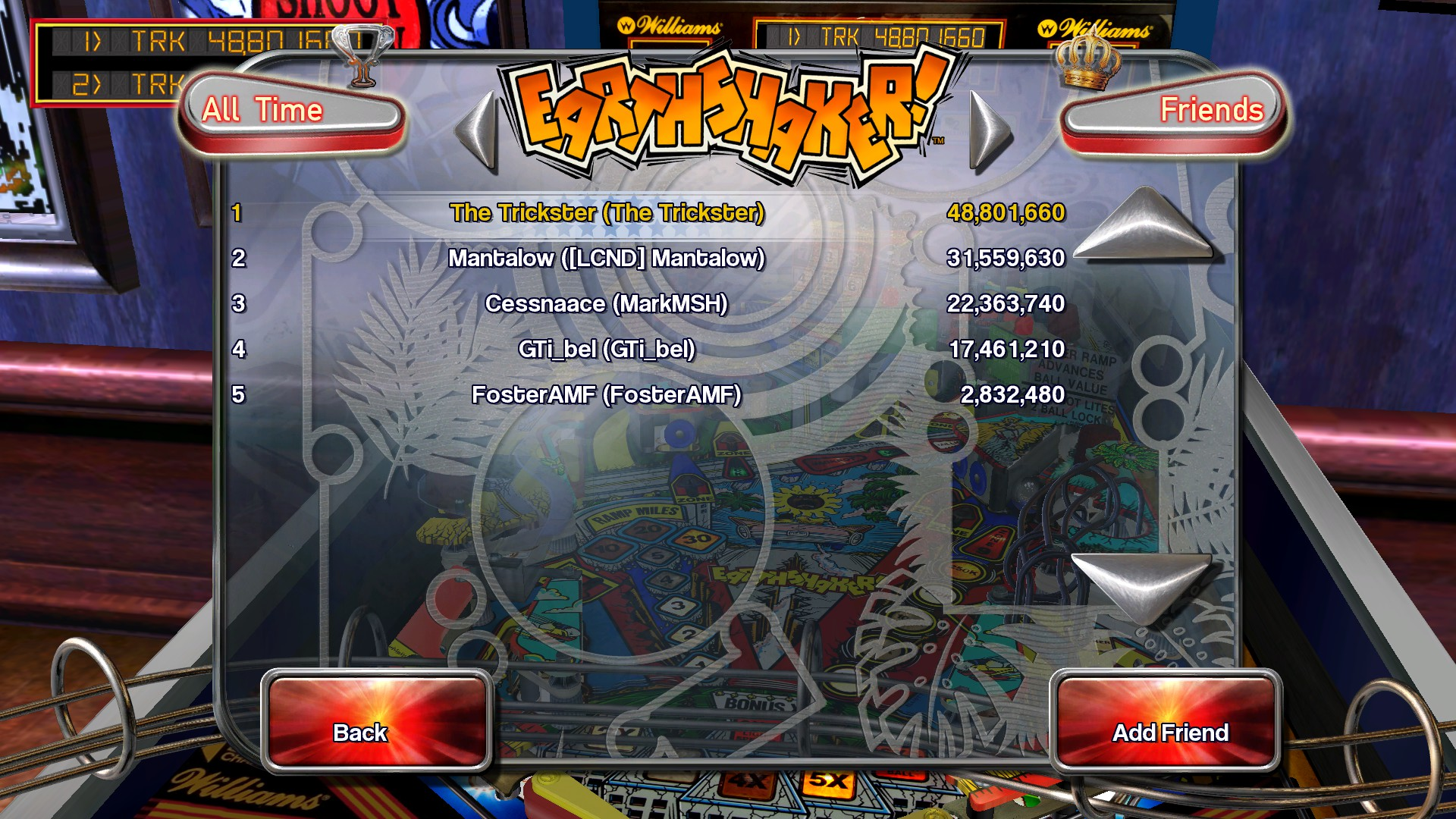 TheTrickster: Pinball Arcade: Earthshaker (PC) 48,801,660 points on 2016-03-05 21:47:02