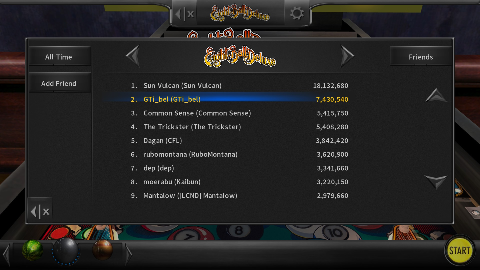 GTibel: Pinball Arcade: Eight Ball Deluxe (PC) 7,430,540 points on 2018-07-25 11:37:16