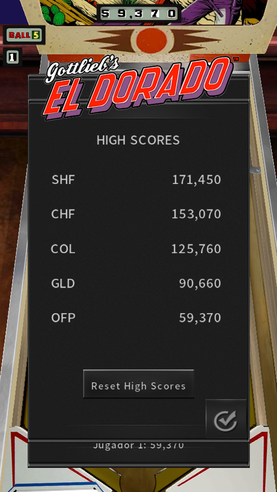 omargeddon: Pinball Arcade: El Dorado (Android) 59,370 points on 2018-07-15 17:11:53