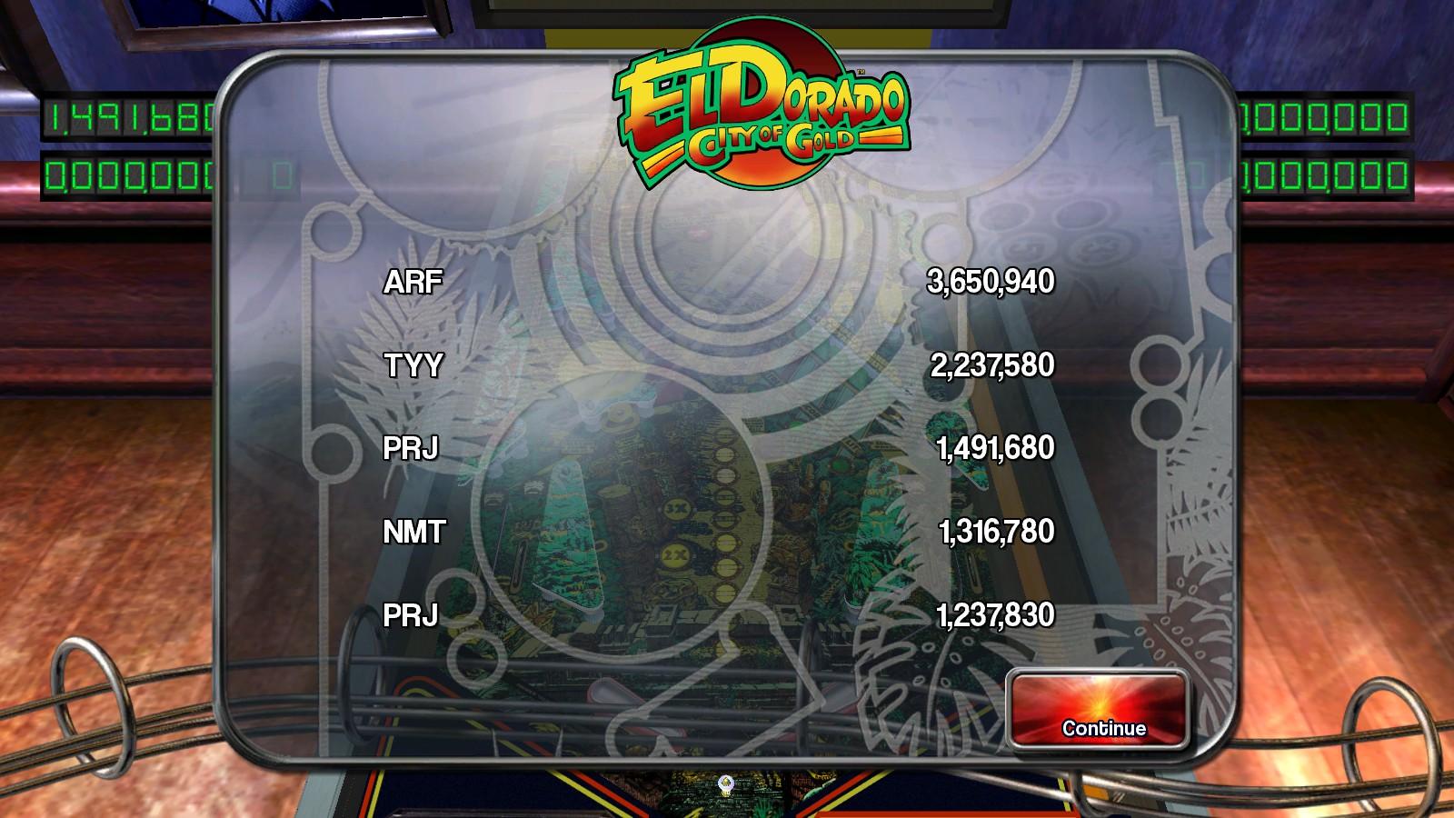 Deteacher: Pinball Arcade: El Dorado: City of Gold (PC) 1,491,680 points on 2015-08-22 17:33:24