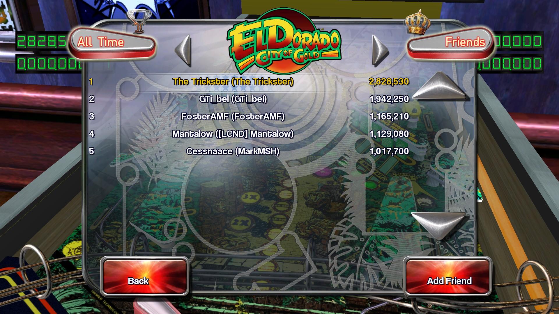 Pinball Arcade: El Dorado: City of Gold 2,828,530 points
