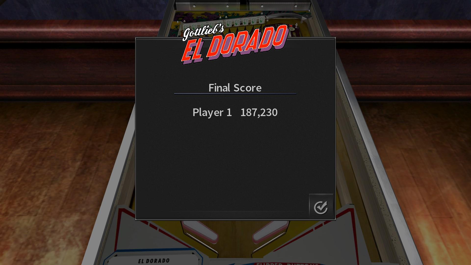 GTibel: Pinball Arcade: El Dorado (PC) 187,230 points on 2017-10-09 03:39:28