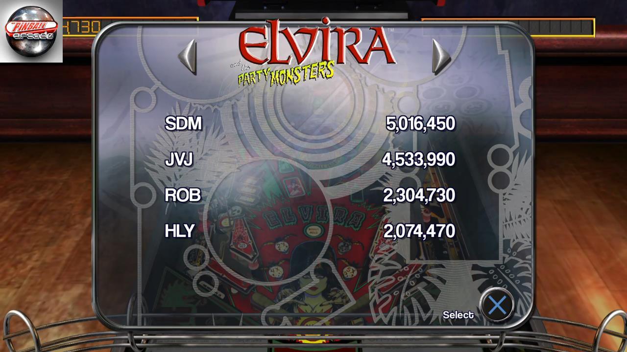 Pinball Arcade: Elvira 2,304,730 points