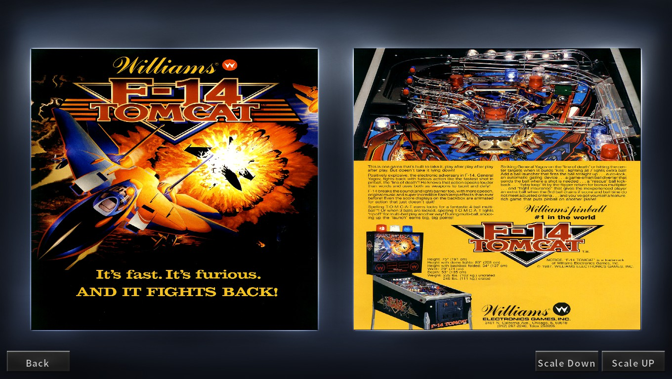 Mark: Pinball Arcade: F-14 Tomcat (PC) 6,181,500 points on 2018-05-10 01:56:09