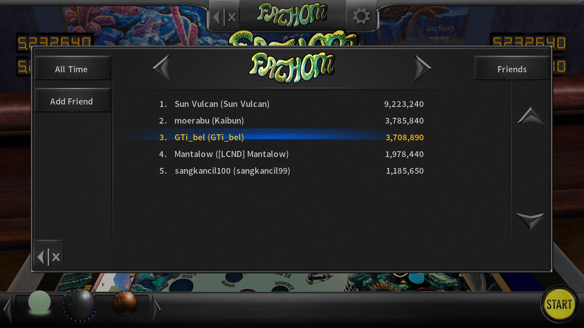 GTibel: Pinball Arcade: Fathom (PC) 3,708,890 points on 2018-01-11 07:48:28