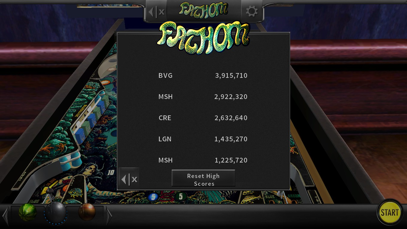 Mark: Pinball Arcade: Fathom (PC) 2,922,320 points on 2018-07-18 03:47:51