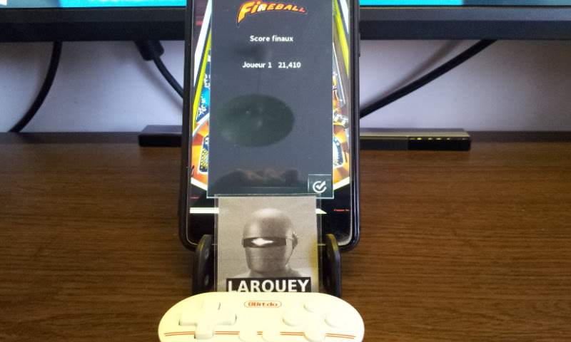 Larquey: Pinball Arcade: Fireball (Android) 21,410 points on 2018-02-11 05:59:43