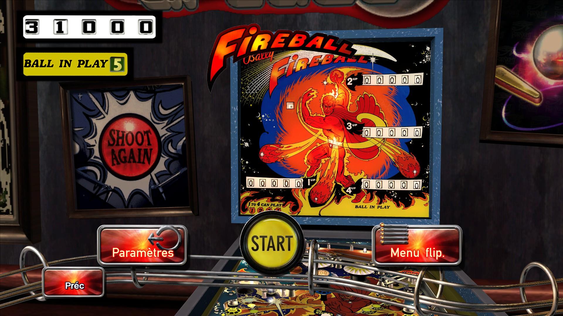 Mantalow: Pinball Arcade: Fireball (PC) 31,000 points on 2016-01-30 03:01:56