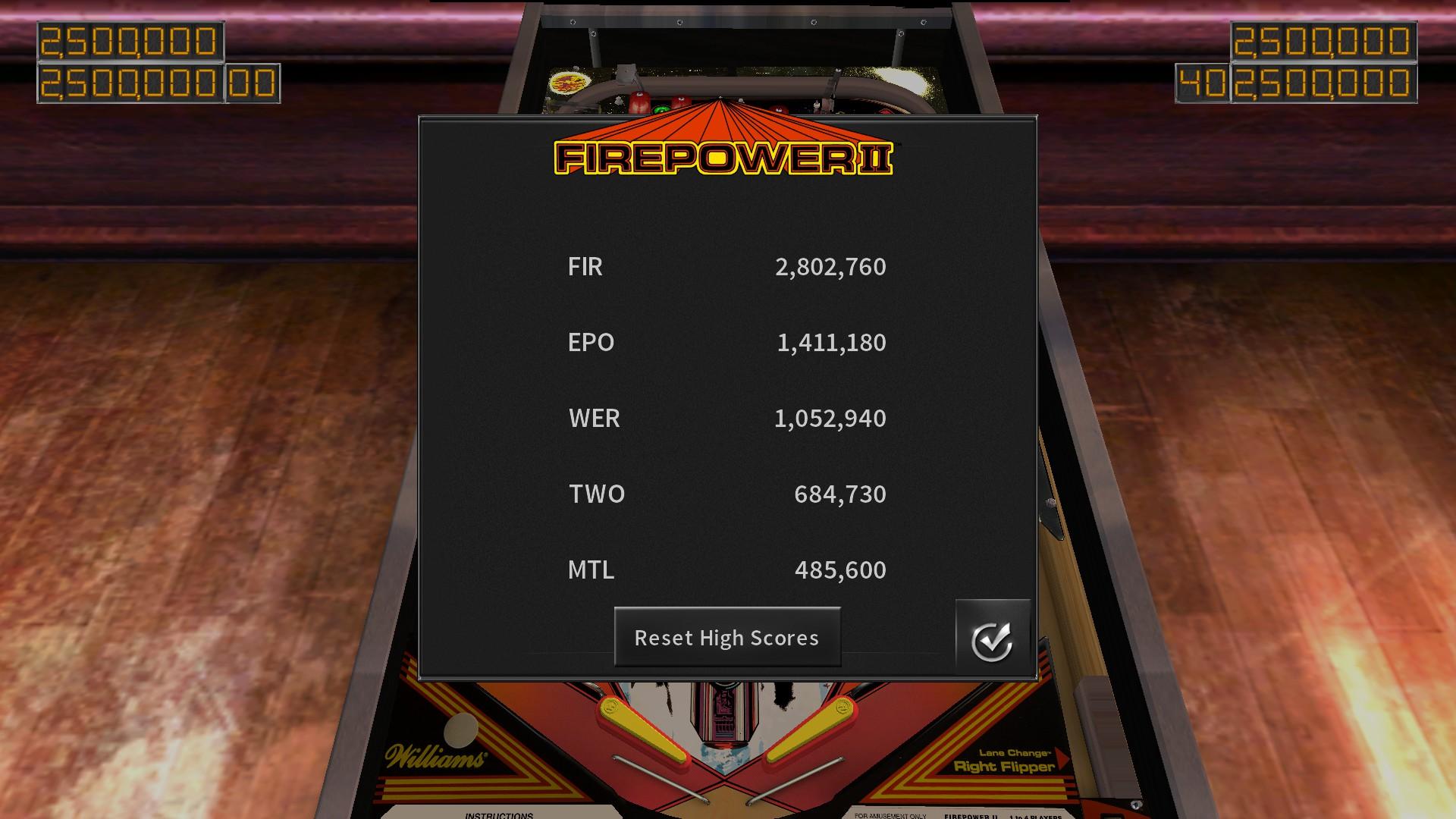 Mantalow: Pinball Arcade: Firepower II (PC) 485,600 points on 2017-07-24 12:48:21