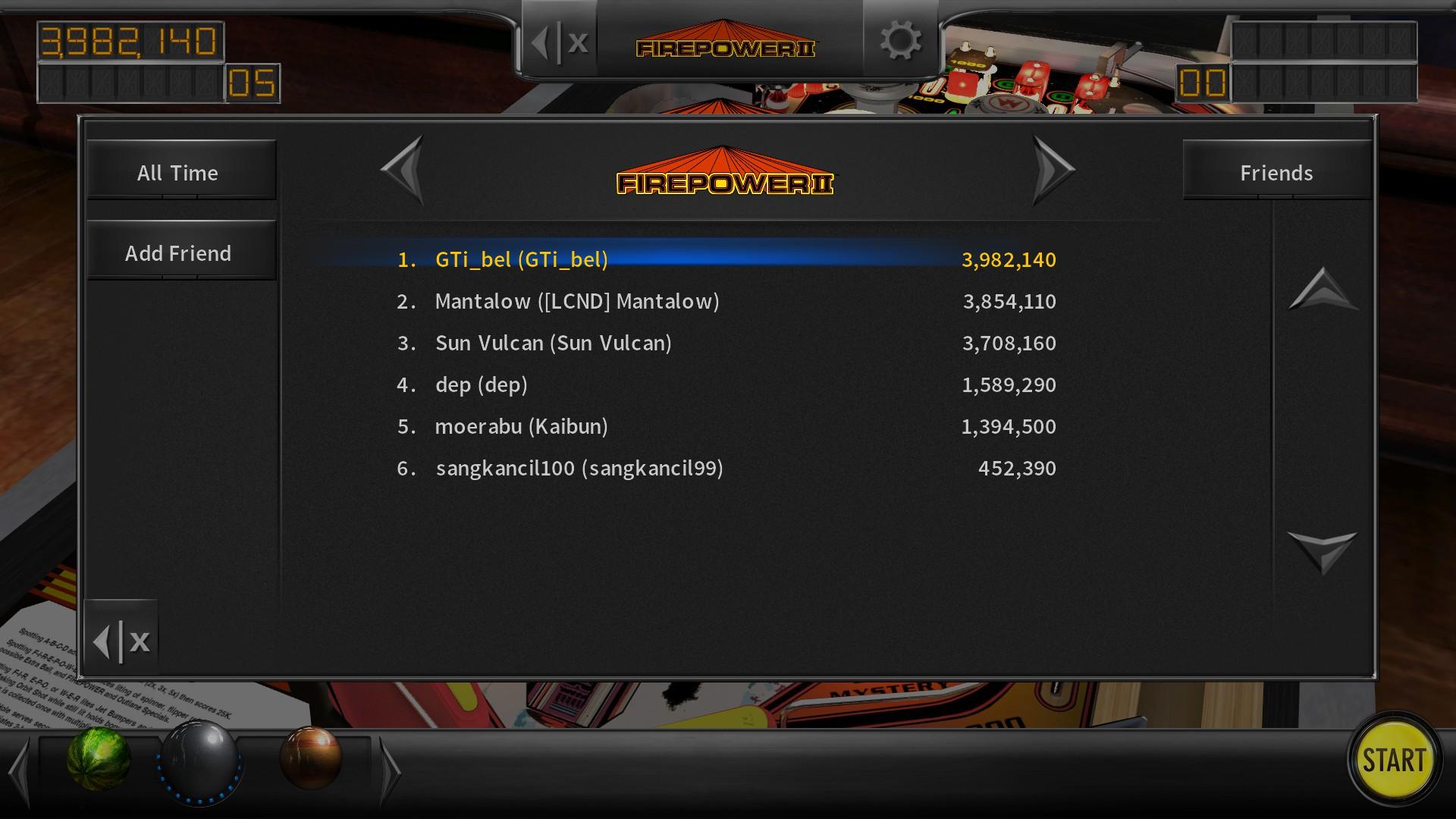 GTibel: Pinball Arcade: Firepower II (PC) 3,982,140 points on 2018-02-25 05:48:50