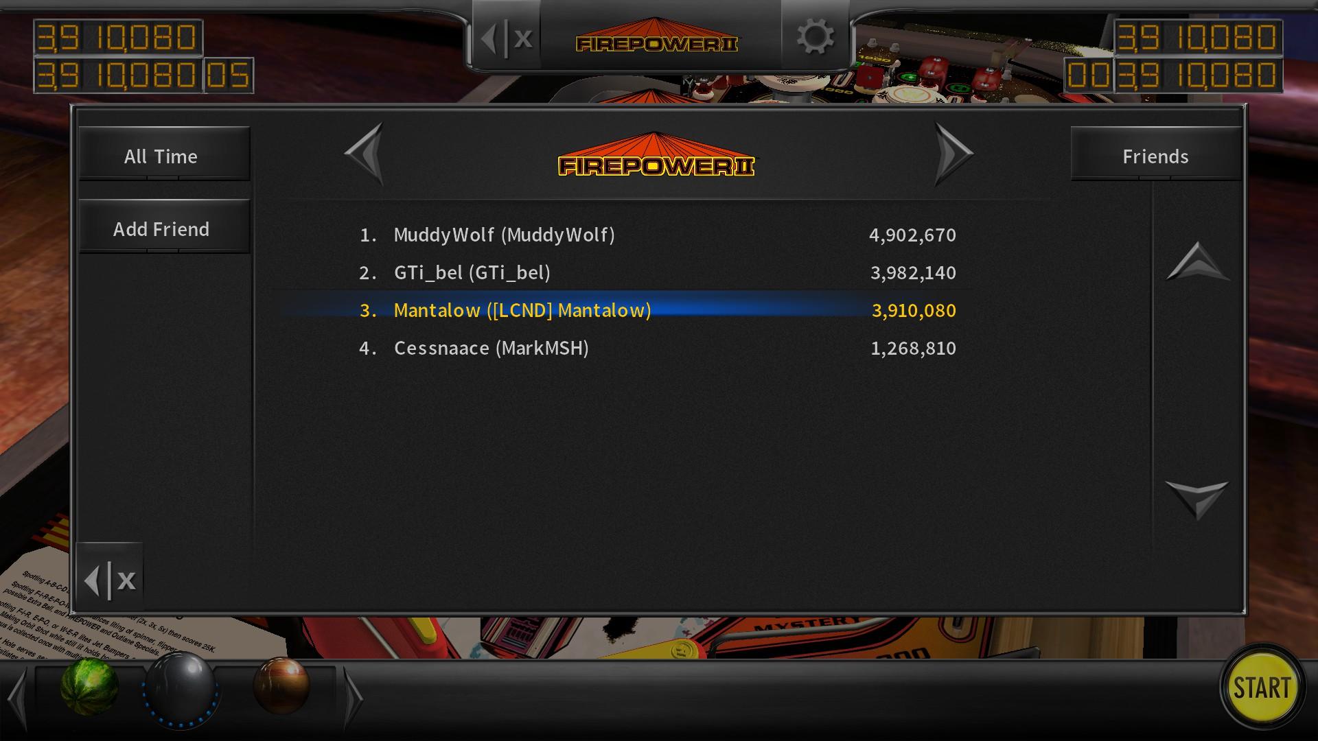 Mantalow: Pinball Arcade: Firepower II (PC) 3,910,080 points on 2018-02-28 02:58:34