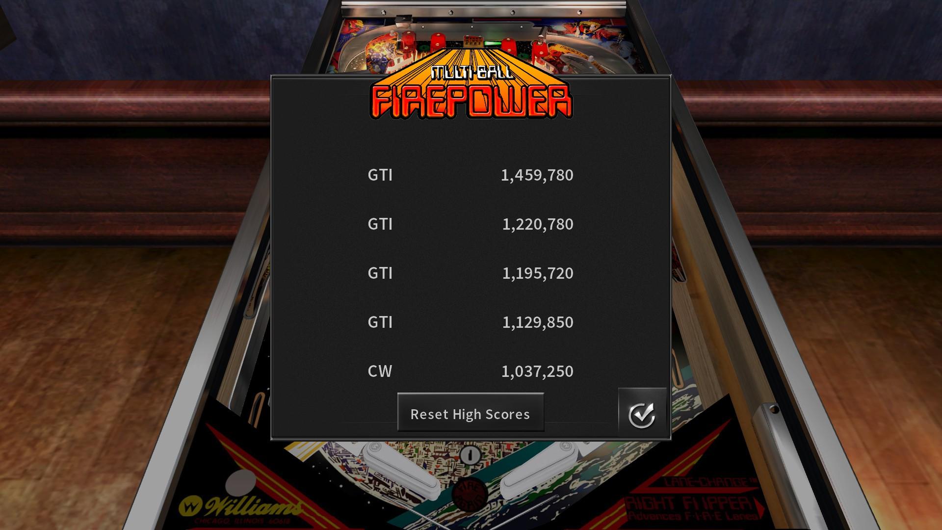 GTibel: Pinball Arcade: Firepower (PC) 1,459,780 points on 2018-02-02 14:58:57