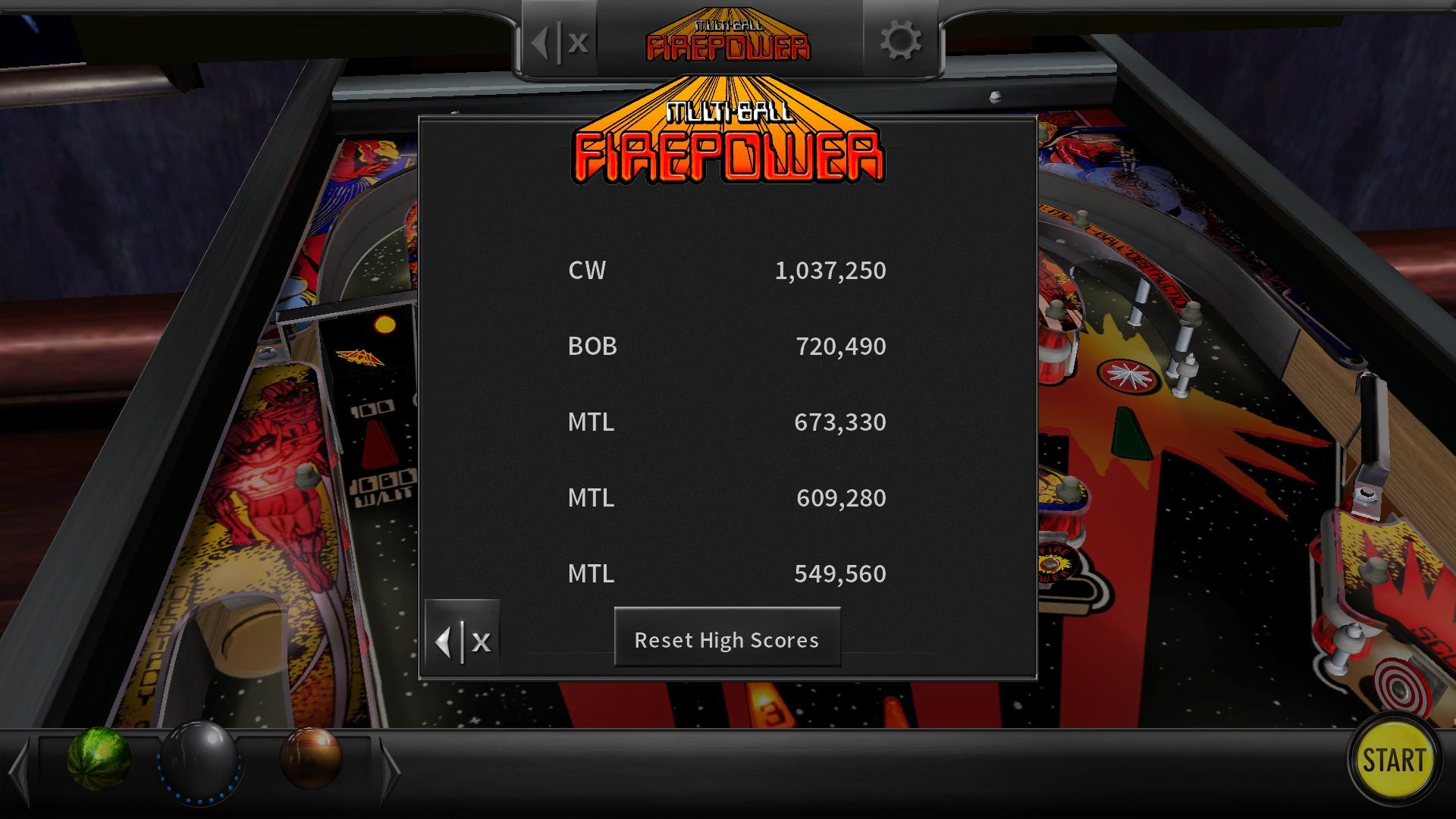 Pinball Arcade: Firepower 673,330 points
