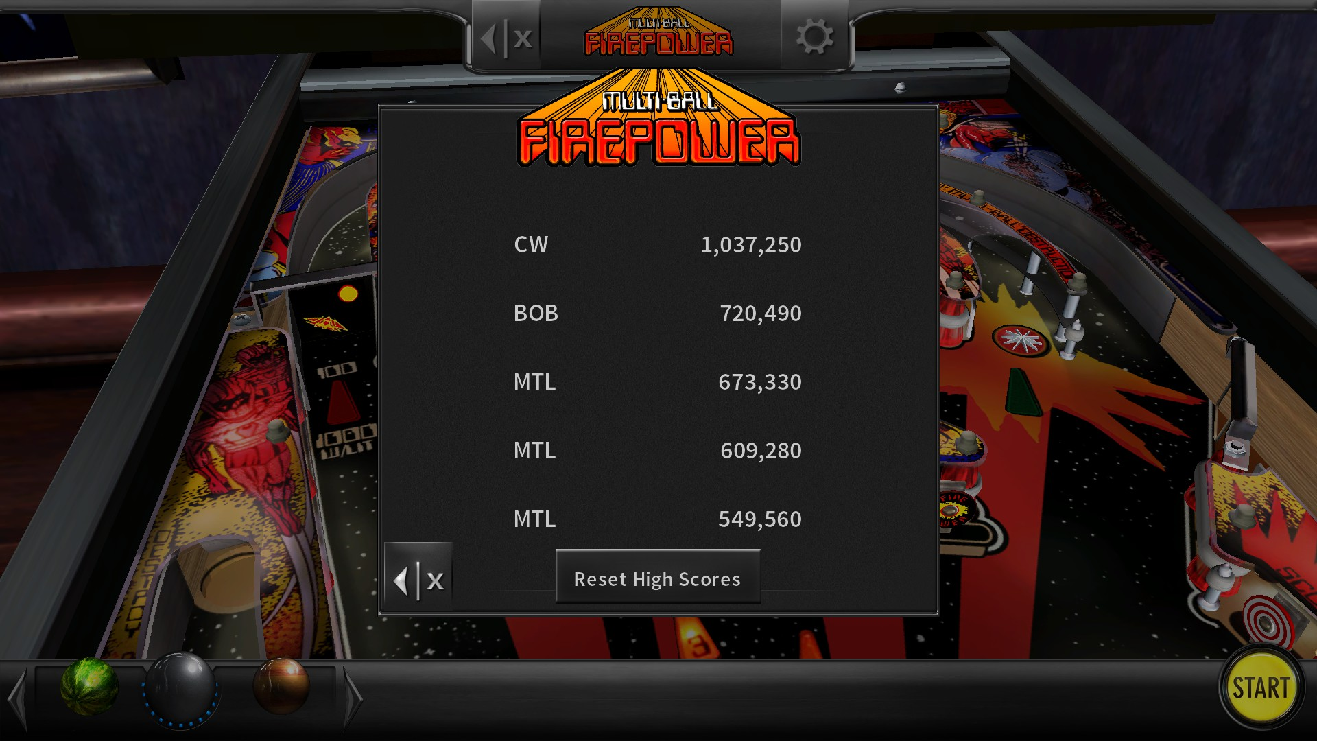 Mantalow: Pinball Arcade: Firepower (PC) 673,330 points on 2018-02-14 11:17:05