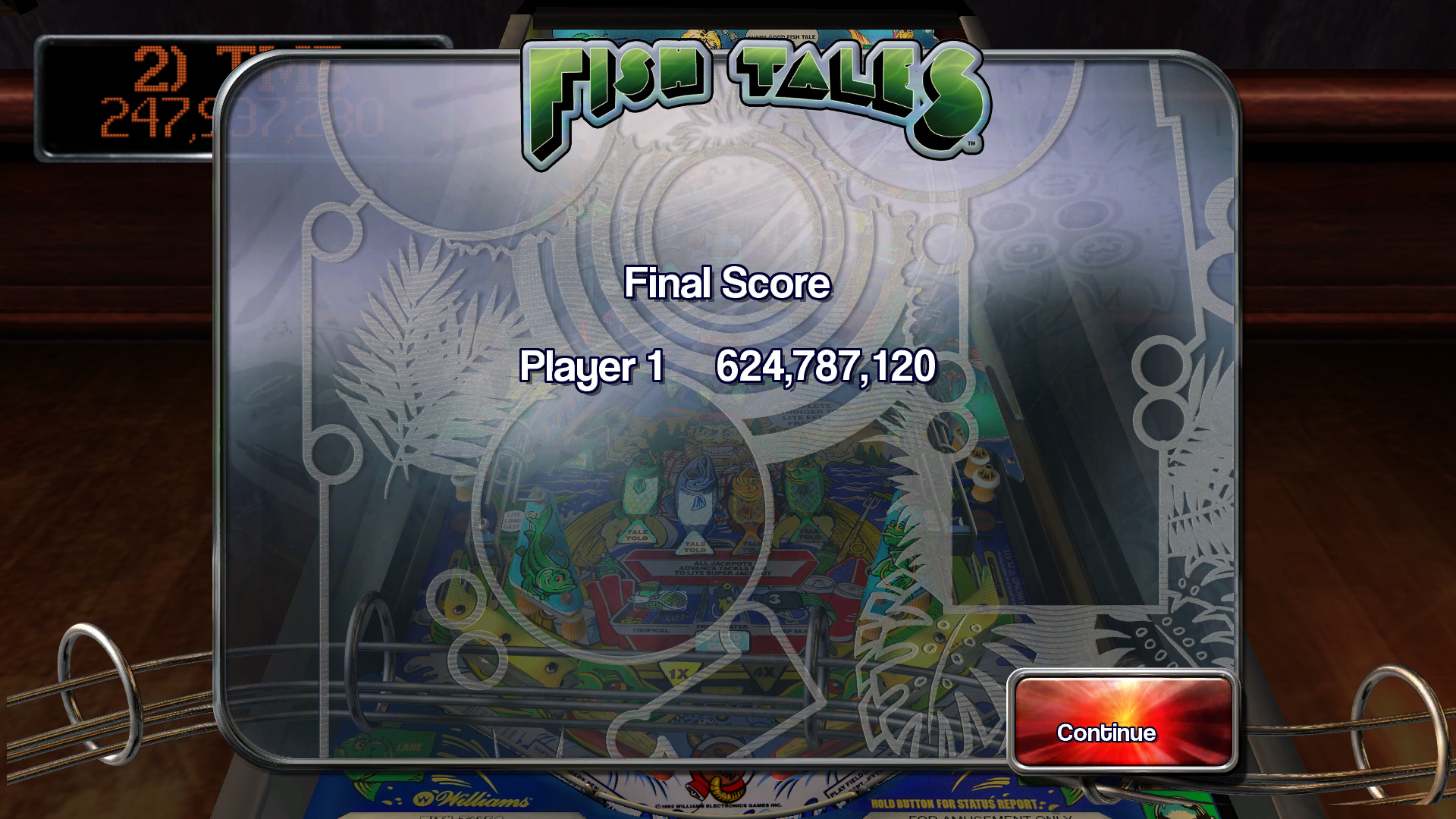 TheTrickster: Pinball Arcade: Fish Tales (PC) 624,787,120 points on 2015-11-01 05:36:59