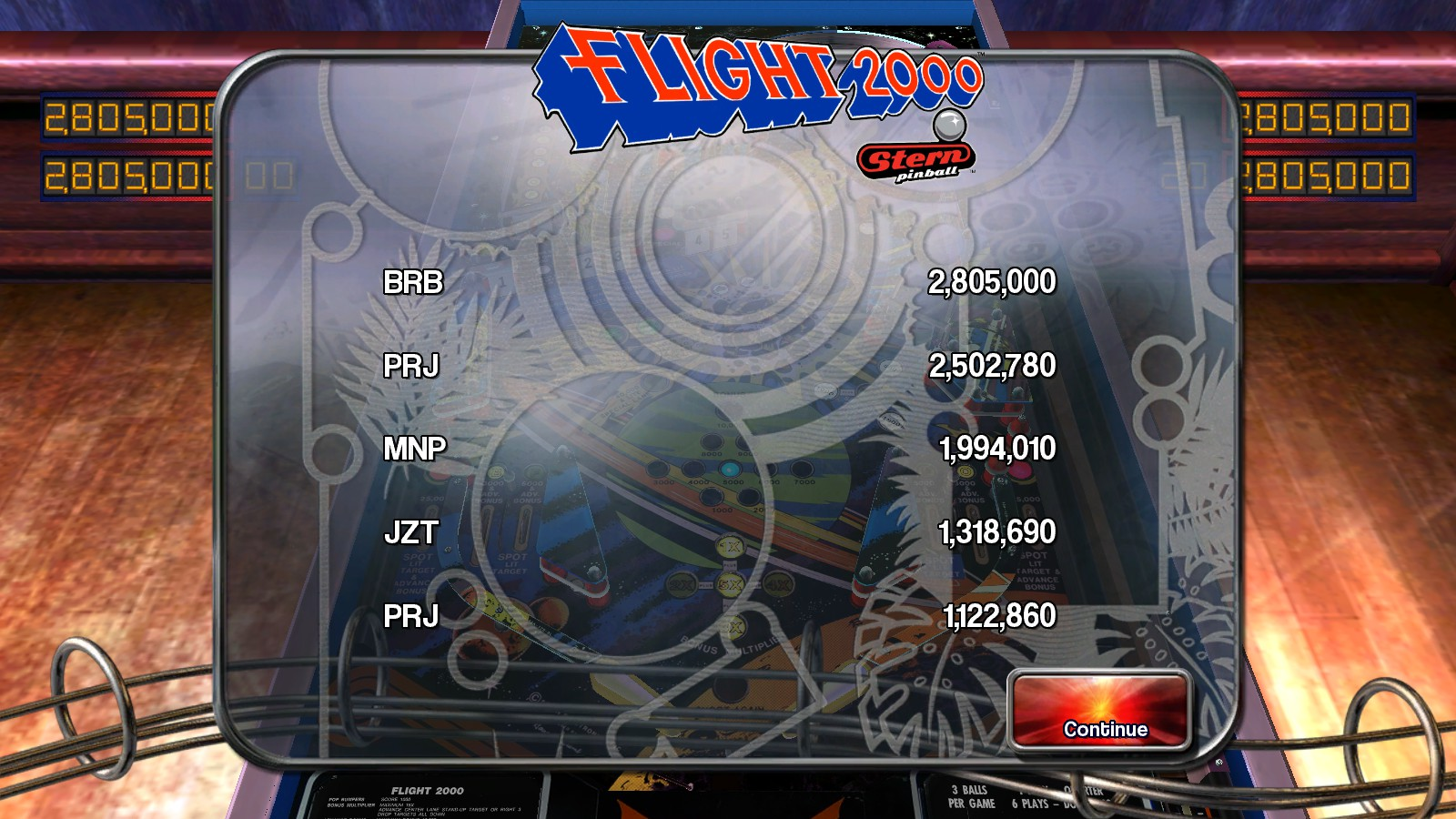 Deteacher: Pinball Arcade: Flight 2000 (PC) 2,502,780 points on 2015-08-23 17:51:23