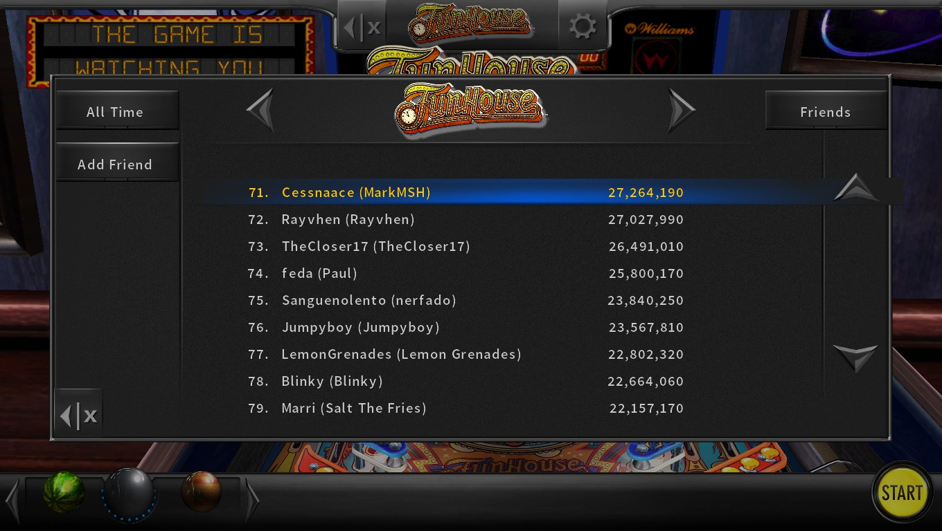 Mark: Pinball Arcade: Funhouse (PC) 27,264,190 points on 2018-05-10 23:28:38