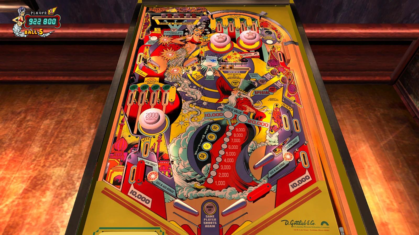 Deteacher: Pinball Arcade: Genie (PC) 922,800 points on 2015-08-28 22:01:26