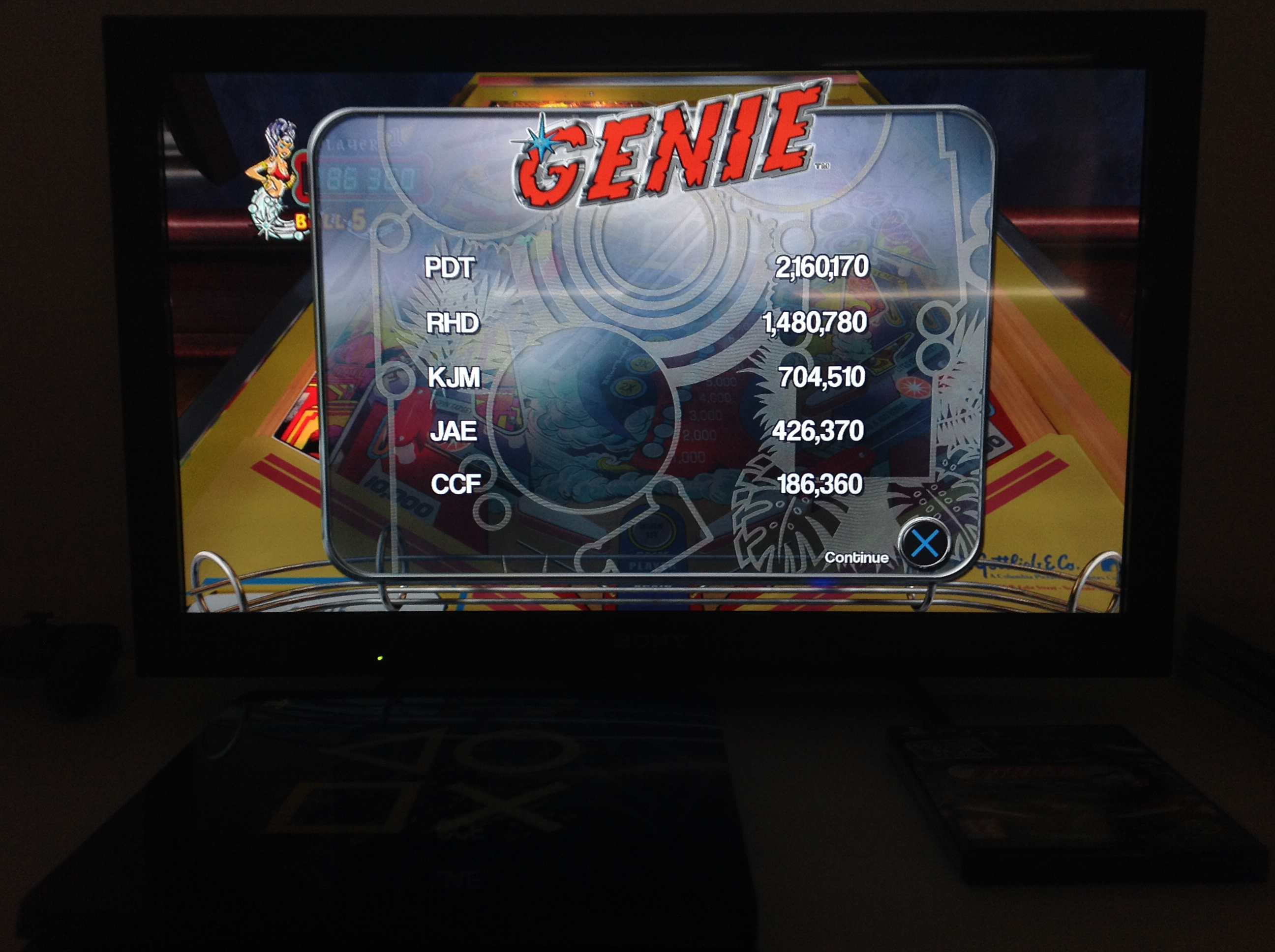 CoCoForest: Pinball Arcade: Genie (Playstation 4) 186,360 points on 2018-07-05 13:34:49