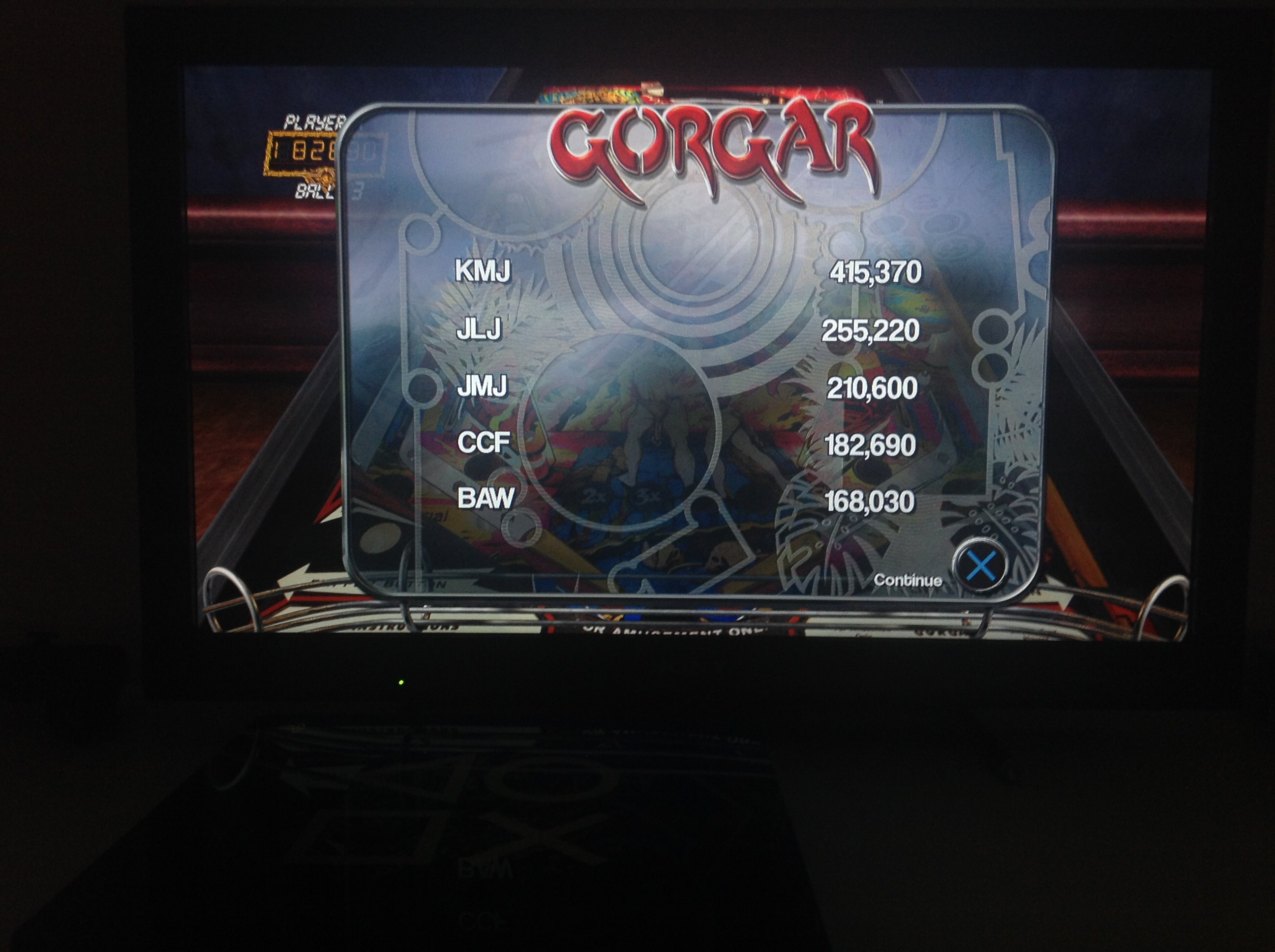 CoCoForest: Pinball Arcade: Gorgar (Playstation 4) 182,690 points on 2018-07-06 14:43:38